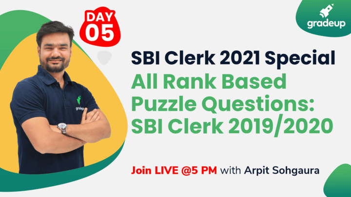 Live Class: All Rank Based Puzzle Questions: SBI Clerk 2019/2020