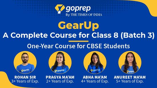 GearUp: A Complete Course for Class 8 (Batch 3)