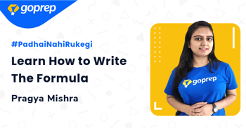Learn How to Write The Formula