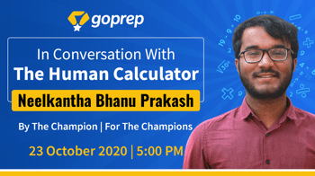 A Session with Neelakantha Bhanu Prakash - Human Calculator