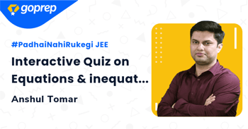 Interactive Quiz on Equations & inequations
