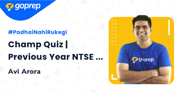 Champ Quiz   Previous Year NTSE Questions