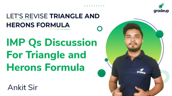 IMP Qs Discussion For Triangle and Herons Formula
