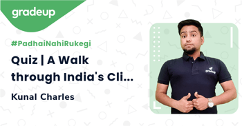Quiz | A Walk through India's Climate