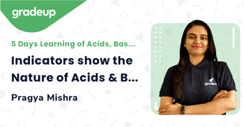 Indicators show the Nature of Acids & Bases. How?