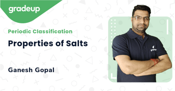 Properties of Salts
