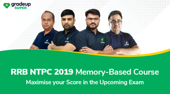 RRB NTPC 2019-20 Memory Based Course