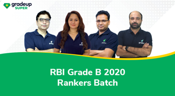 RBI Grade B 2020: Rankers Batch