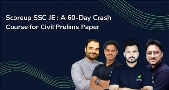 Scoreup SSC JE : A 60-Day Crash Course for Civil Paper (English)