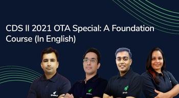 CDS II 2021 OTA Special: A Foundation Course (English)