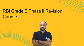 RBI Grade B Phase II Revision Course