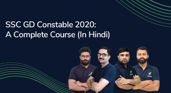 SSC GD Constable 2020 : A Complete Course