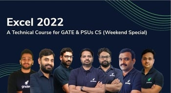 Excel 2022 Technical Course for GATE & PSU CS (Weekend Special)