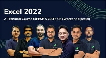 Excel 2022 Technical Course for ESE & GATE CE (Weekend Special)