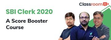 SBI Clerk 2020: A Score Booster Course