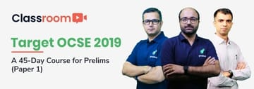Target OCSE 2019: A 45-Day course for Prelims