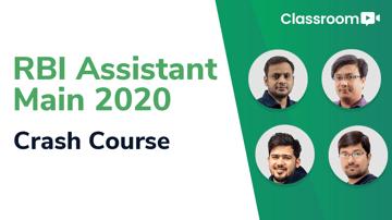 RBI Assistant Main 2020 Crash Course